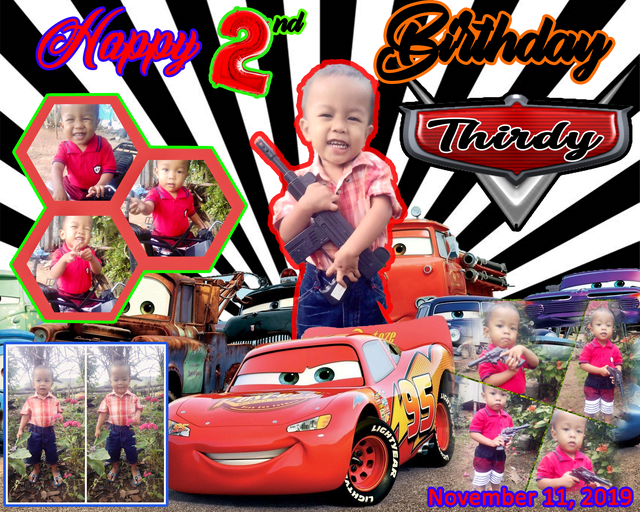 2nd Second birthday Tarpaulin Design